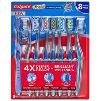 Colgate Total Whitening Toothbrush, Soft or Medium (8 pk.)