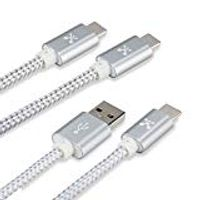 ATOMI TYPE C 3FT BRAIDED USB CABLE WITH METAL TIPS 2 PACK